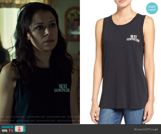 The Muscle Tank by Current Elliott worn by Tatiana Maslany on Orphan Black