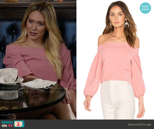 Tibi Off Shoulder Top worn by Hilary Duff on Younger