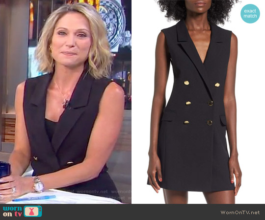 Double Breasted Blazer Dress by Topshop worn by Amy Robach on Good Morning America