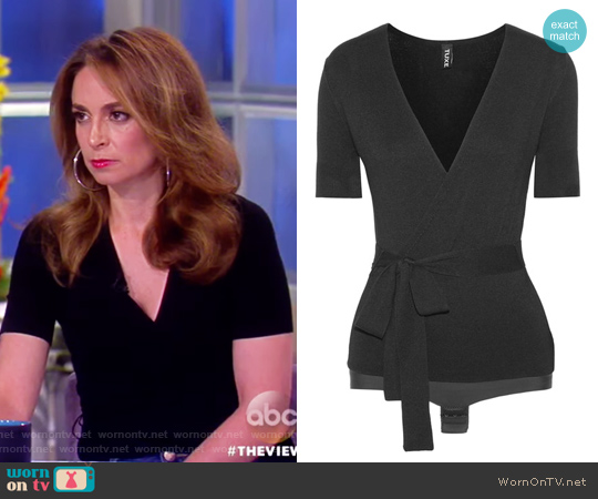 Solicitor wrap-effect stretch-knit bodysuit by Tuxe Bodywear worn by Jedediah Bila  on The View