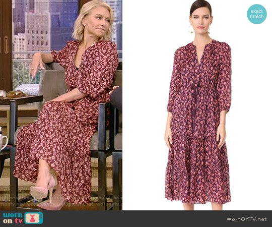Clementine Dress by Ulla Johnson worn by Kelly Ripa on Live with Kelly & Ryan