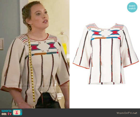 Ulla Johnson Inez Top worn by Hilary Duff on Younger