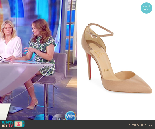Uptown Ankle Strap Pointy Toe Pump by Christian Louboutin worn by Jedediah Bila on The View