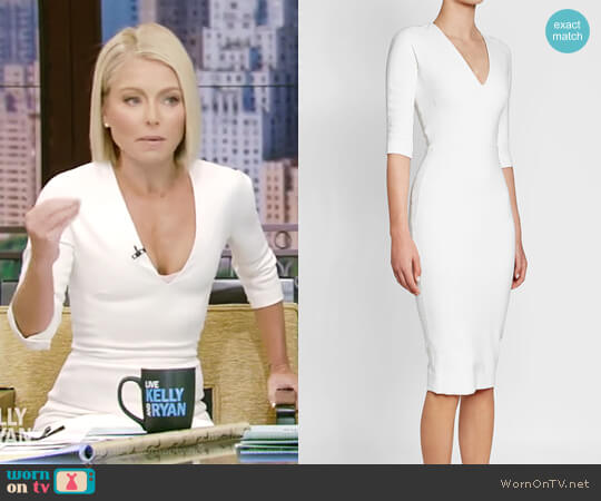 Sheath Dress by Victoria Beckham worn by Kelly Ripa on Live with Kelly & Ryan