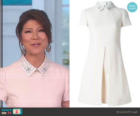 Studded Collar Dress by Valentino worn by Julie Chen on The Talk