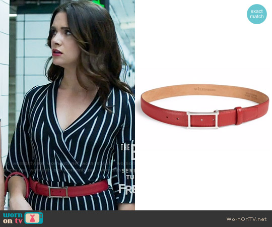 W. Kleinberg Rectangle Buckle Leather Belt worn by Jane Sloan on The Bold Type