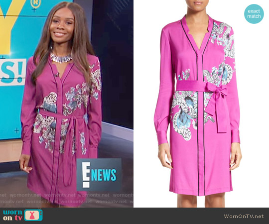 Floral Pajama Dress by Yigal Azrouël worn by Zuri Hall  on E! News