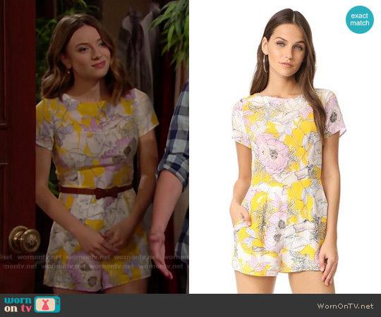 Yumi Kim Carpe Diem Romper in Bora Bora Yellow worn by Courtney Grosbeck on The Bold & the Beautiful