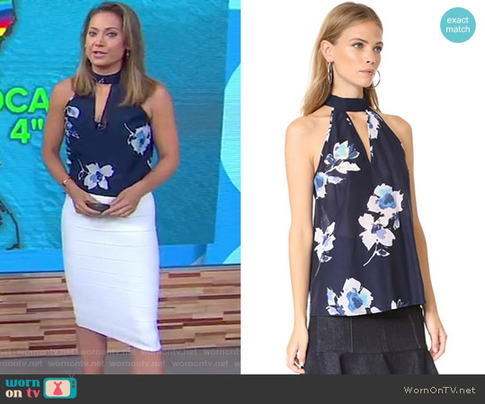 Hot & Cold Sleeveless Top by Yumi Kim worn by Ginger Zee on Good Morning America
