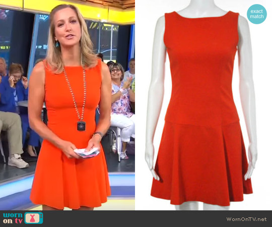 634609fc WornOnTV: Lara's orange fit and flare dress on Good Morning America ...