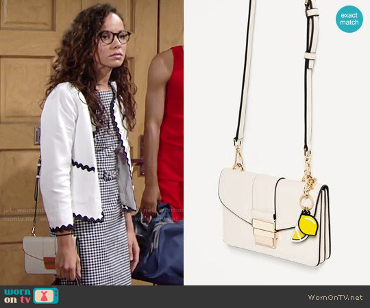 Zara Mini Crossbody Bag worn by Lexie Stevenson on The Young & the Restless