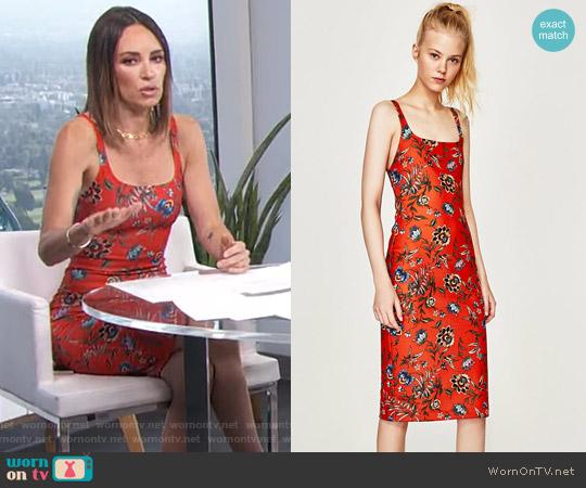 Strappy Dress by Zara worn by Catt Sadler  on E! News