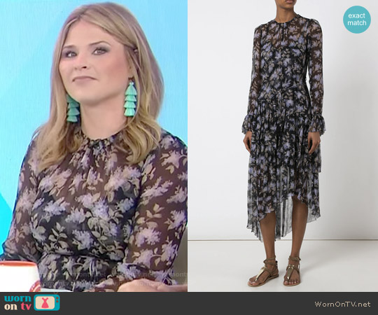Floral Shift Dress by Zimmermann worn by Jenna Bush Hager  on Today