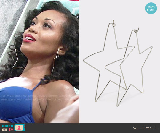 Aldo Cuwien Earrings worn by Mishael Morgan on The Young & the Restless