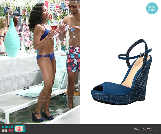 Aldo Shizuko Wedges worn by Hilary Curtis on The Young & the Restless