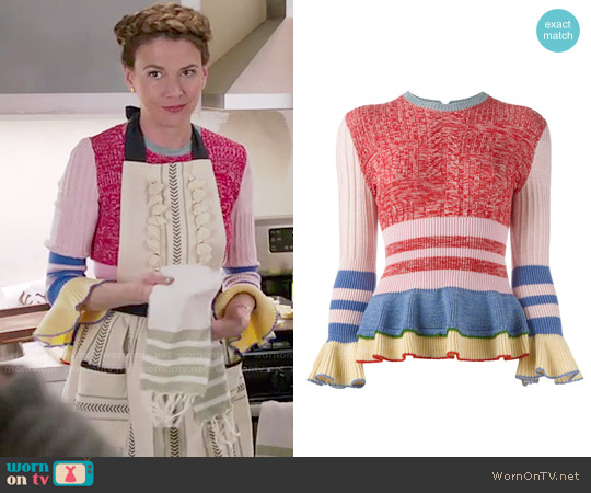 Alexander McQueen Peplum Jumper worn by Liza Miller on Younger