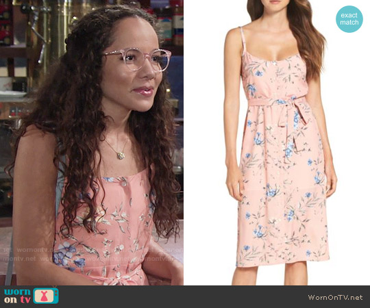 Ali & Jay Flower Frolicking Midi Dress worn by Lexie Stevenson on The Young & the Restless