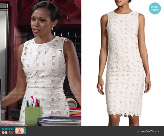 Alice + Olivia Fey Dress worn by Hilary Curtis (Mishael Morgan) on The Young & the Restless