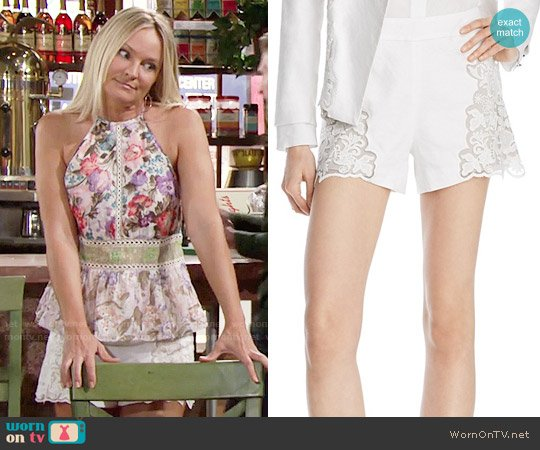 Alice + Olivia Marisa Shorts worn by Sharon Collins on The Young & the Restless
