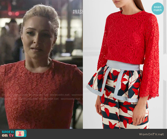 Alice + Olivia Pasha Top worn by Hayden Panettiere on Nashville