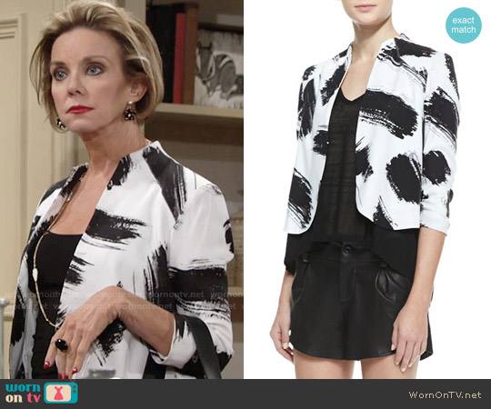 Alice + Olivia York Jacket worn by Judith Chapman on The Young & the Restless
