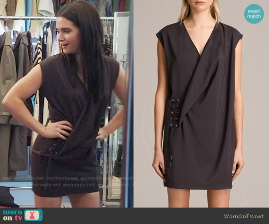 All Saints Aures Dress worn by Katie Stevens on The Bold Type