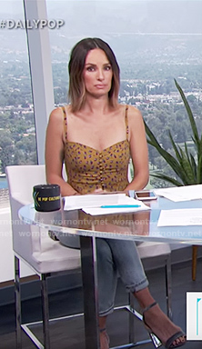 Catt's floral tank top on E! News Daily Pop