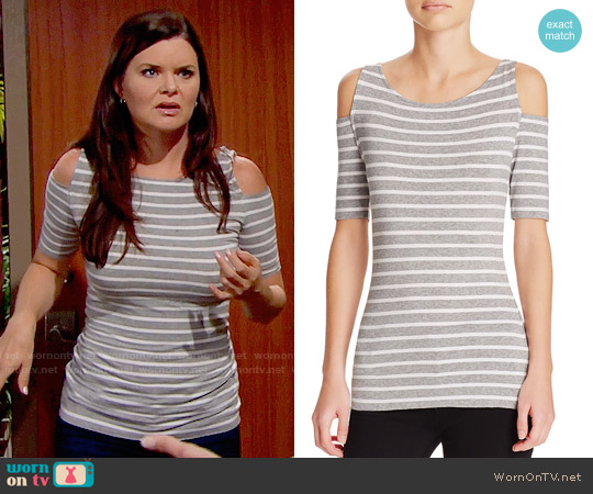 Bailey 44 Striped Denueve Top worn by Heather Tom on The Bold & the Beautiful