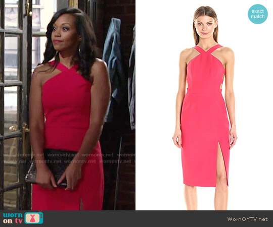 Bcbgmaxazria Ruth Dress worn by Hilary Curtis (Mishael Morgan) on The Young & the Restless