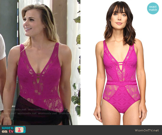 Becca Color Play One Piece Swimsuit worn by Gina Tognoni on The Young & the Restless