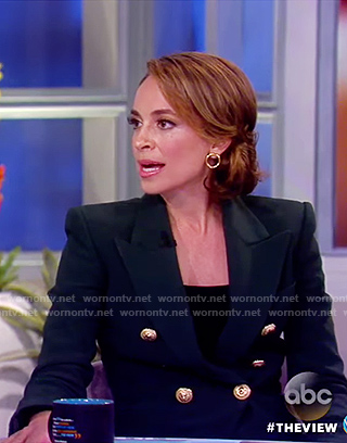 Jedediah's black double breasted blazer on The View