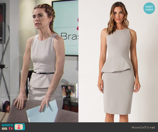 Black Halo Kiara Dress worn by Amelia Heinle on The Young & the Restless
