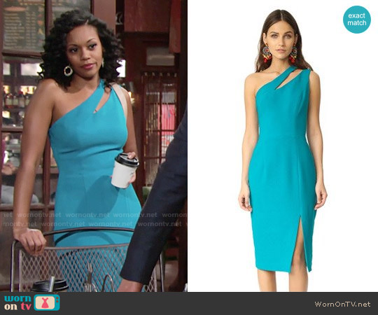 Black Halo Yara Dress worn by Mishael Morgan on The Young & the Restless