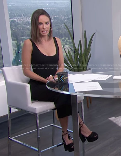 Catt's black tank dress on E! News Daily Pop
