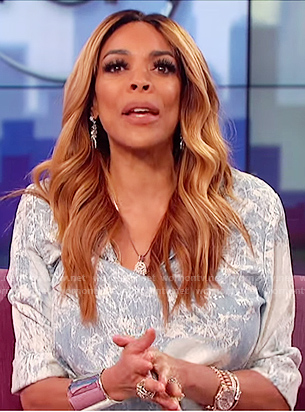 Wendy's acid washed denim dress on The Wendy Williams Show