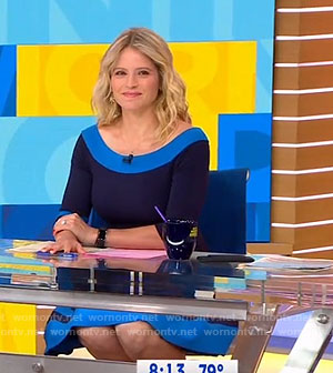 Sara's blue flare dress on Good Morning America