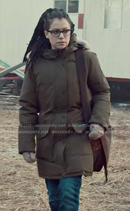 Cosima's military down jacket on Orphan Black