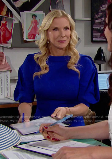 Brooke's blue dress on The Bold and the Beautiful