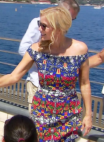 Brooke's kaleidoscope print dress on The Bold and the Beautiful