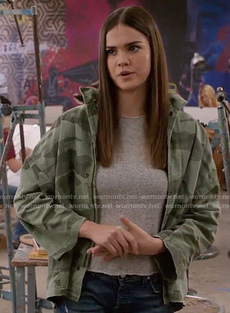 Callie's camouflage jacket on The Fosters