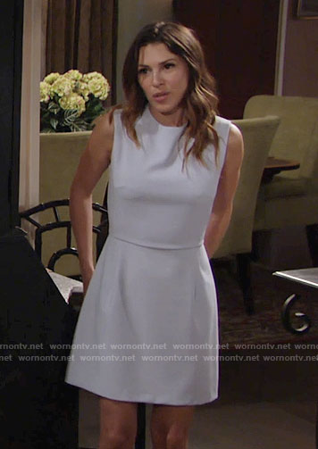 Chloe's sleeveless grey dress on The Young and the Restless