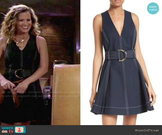 Diane von Furstenberg Fit and Flare Dress worn by Melissa Claire Egan on The Young & the Restless
