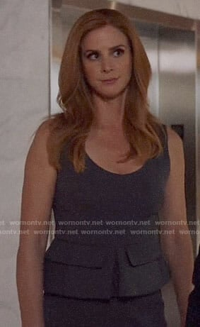 Donna's grey peplum dress on Suits