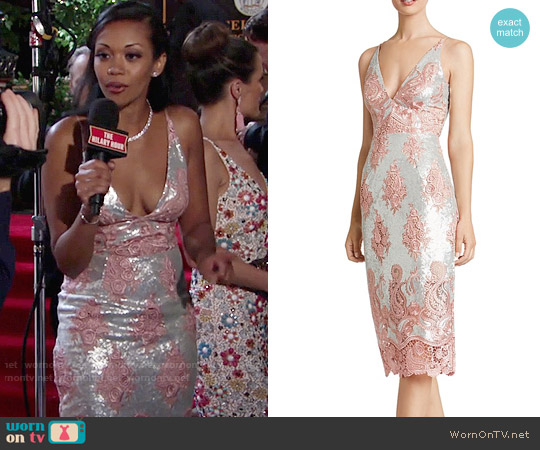Dress the Population Angela Dress worn by Mishael Morgan on The Young & the Restless