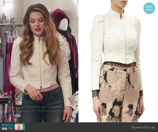 Dries van Noten Bach Jacket worn by Meghann Fahy on The Bold Type