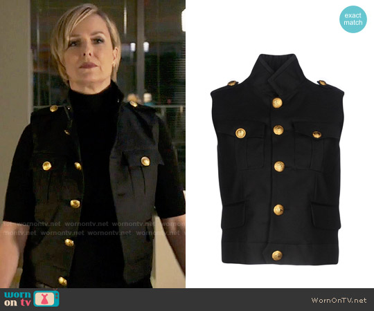 DSquared2 Army Vest worn by Melora Hardin on The Bold Type