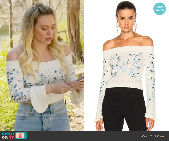 Erdem Bella Sweater worn by Hilary Duff on Younger