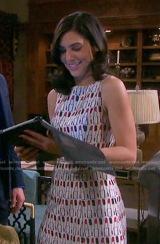 Gabi's lipstick print dress on Days of our Lives