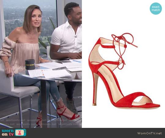 Gianvito Rossi Darcy Sandals worn by Catt Sadler on E! News