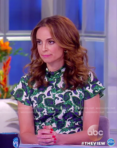 Jedediah's green silk floral dress on The View